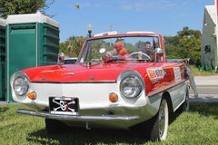 Old Amphicar at the car show Royalty Free Stock Photography
