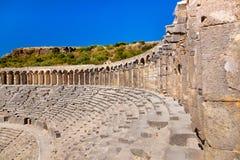Old amphitheater Aspendos in Antalya, Turkey Stock Photos