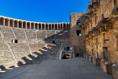 Old amphitheater Aspendos in Antalya, Turkey royalty free stock image