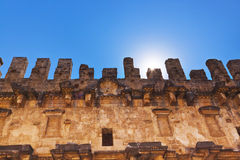 Old amphitheater Aspendos in Antalya, Turkey Royalty Free Stock Photography
