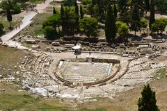 Old amphitheater in Athens. Amphitheater. royalty free stock photography