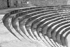 Old amphitheater in Ohrid Royalty Free Stock Images