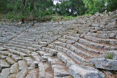 Old amphitheater Phaselis in Antalya Royalty Free Stock Photos