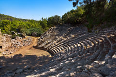 Old amphitheater Phaselis in Antalya, Turkey Royalty Free Stock Images