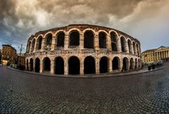 Old amphitheater in Verona Royalty Free Stock Image