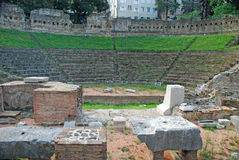 Old amphitheatre in Trieste Stock Photo