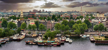 Old Amsterdam city Royalty Free Stock Photo