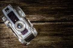 Old analog Camera with copy space Royalty Free Stock Photography