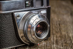 Old analog Camera with copy space Royalty Free Stock Photo