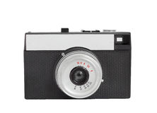 Old analog camera on film 35mm format isolated on a white background  Stock Photography