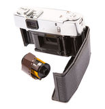 Old Analog Camera And Film Roll VIII Royalty Free Stock Image