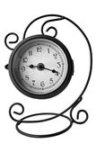 Old analog clock. Isolated on white stock photos