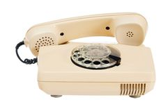 Old analog phone with a disk Royalty Free Stock Images