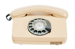 Old analog phone with a disk Royalty Free Stock Image