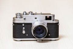 Old analog rangefinder camera Royalty Free Stock Image