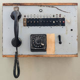 Old analog telephone cell with jog dial Stock Photo