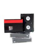 Old analog video cassettes minidv mini dv Royalty Free Stock Photos
