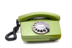 Old analogue disk phone Royalty Free Stock Photo