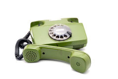 Old analogue disk phone Royalty Free Stock Photography