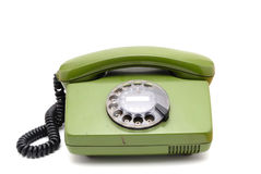 Old analogue disk phone Royalty Free Stock Photos
