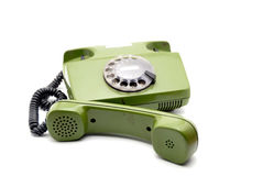 Old analogue disk phone Stock Photography