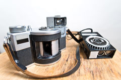 Old analogue panoramic camera Stock Photos