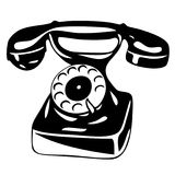 Old analogue phone - vector Royalty Free Stock Images