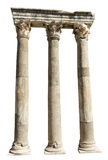 Old Anceint Roman Stone Columns Isolated Stock Photography