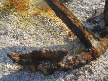 Old Anchor. Old rusted antique anchor on Nantucket Island royalty free stock photo