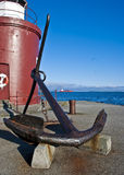 Old anchor in Alesund, Norway Stock Photo