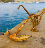 An old anchor in the caribbean Royalty Free Stock Photos