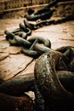 Old anchor and chain Stock Photos