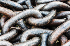 Old anchor chain Stock Images