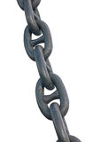 Old anchor chain. On a white background stock image