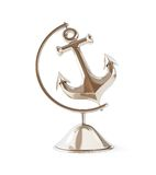 Old anchor globe 3d Illustrations Royalty Free Stock Photography