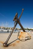 Old Anchor in the Marina of Porec royalty free stock photos
