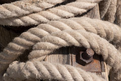 Old anchor rope Stock Image
