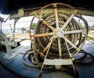 Old Anchor rope wheel Royalty Free Stock Images