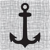 Old anchor silhouette Royalty Free Stock Photo