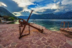 Old anchor on the waterfront Stock Photos