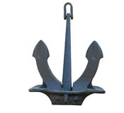 Old Anchor on a white Royalty Free Stock Images