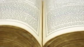 Old ancient book opened Stock Photography