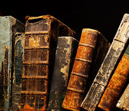 Old and ancient books on the shelf Stock Photography