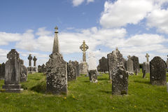 Old ancient Celtic graveyard Stock Photos