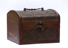 Old ancient chest Royalty Free Stock Photos