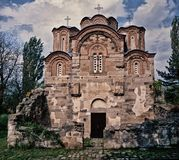 Old ancient church complex and monastery. St. Gjorgija,Staro Nagoricane,Macedonia stock photo