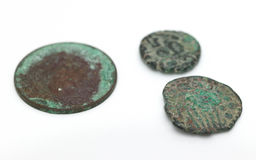 Old ancient coins Royalty Free Stock Photos