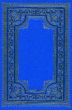 Old ancient deep blue book. Page with ornaments from 1897 Stock Images