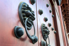 Old Ancient door Chinese style Stock Photo