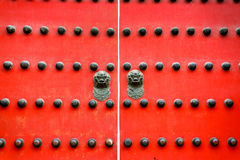 Old Ancient door Chinese style Royalty Free Stock Images
